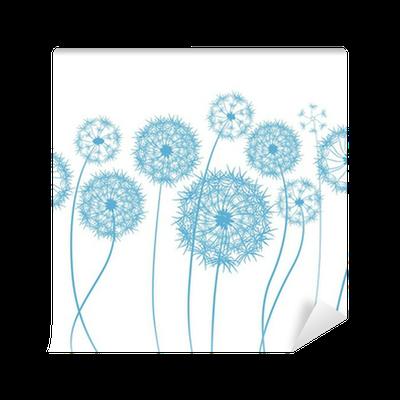 Flower Dandelion Sketch Wall Mural Pixers We Live To Change