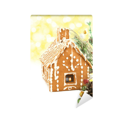 Gingerbread house with Christmas decoration Wall Mural • Pixers ...