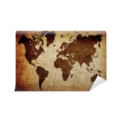 Grunge world map background wall mural pixers we live to change gumiabroncs Choice Image