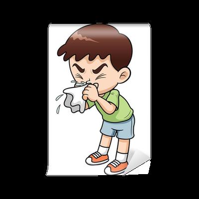 Illustration Of Sick Boy Cartoon Wall Mural Pixers 174 We