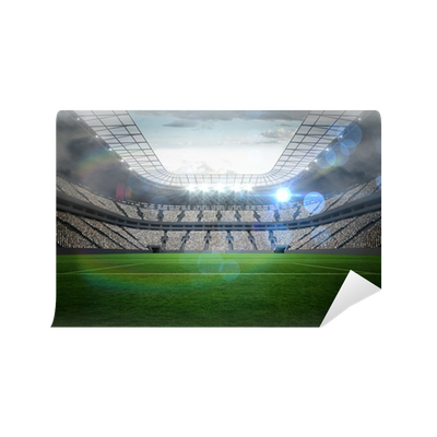 Large football stadium with lights Wall Mural • Pixers ...