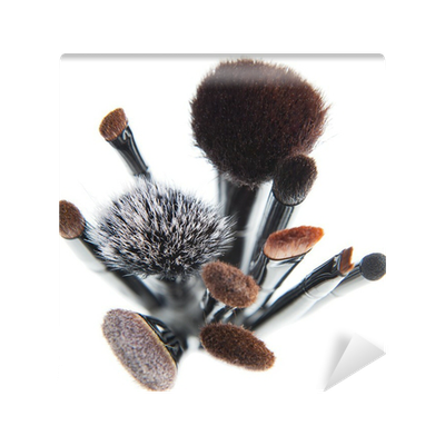 Makeup Brushes On A White Background Wall Mural O PixersR We Live To Change