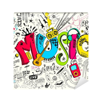 Music Doodle Wall Mural Pixers 174 We Live To Change
