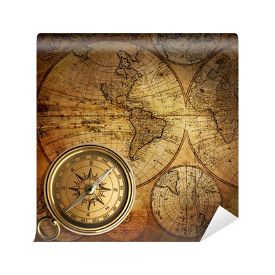 Old Compass On Vintage Map 1746 Wall Mural O PixersR We Live To Change