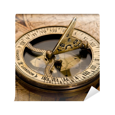Old Compass On Vintage Map 1752 Wall Mural O PixersR We Live To Change