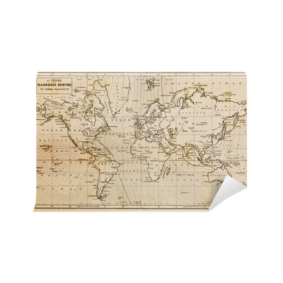 Old hand drawn vintage world map wall mural pixers we live to old hand drawn vintage world map wall mural pixers we live to change gumiabroncs Gallery