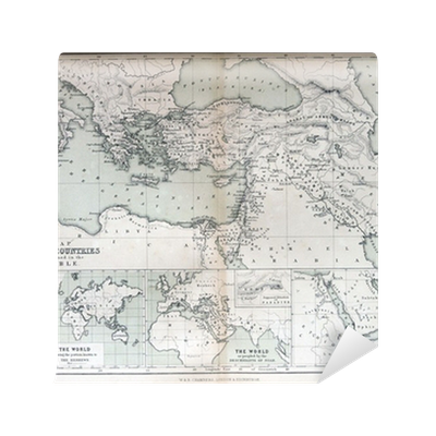 old map of countries mentioned in the bible 1870 wall mural pixers we live to change