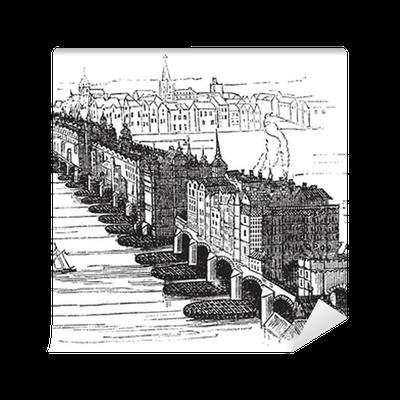 Old Medieval London Bridge In England United Kingdom Vintage Wall Mural Pixers We Live To Change