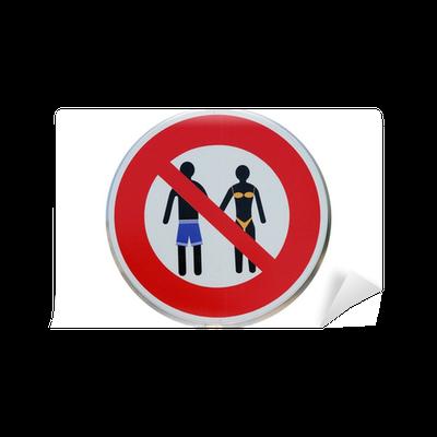 Panneau D Interdiction De Port De Maillots De Bain Wall