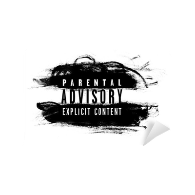 Parental Advisory Label Wall Mural Pixers 174 We Live To
