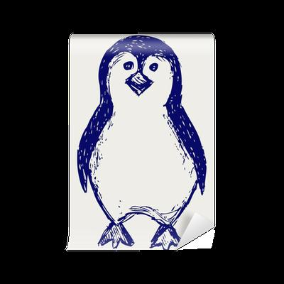 Penguin Sketch Wall Mural Pixers We Live To Change