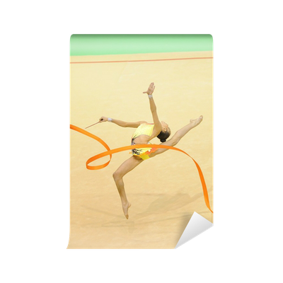 rhythmic gymnastics with ribbon Wall Mural Pixers We live to change