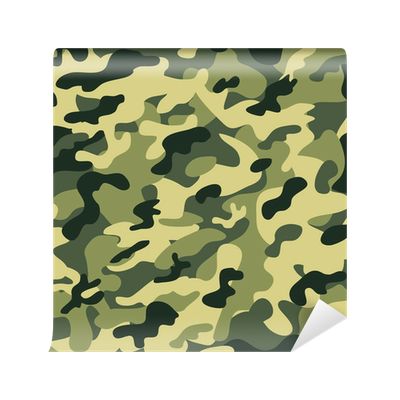 Seamless camouflage pattern wall mural pixers we live for Camouflage mural