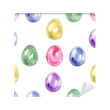 Seamless easter pattern with eggs on white background. Vinyl Wall Mural