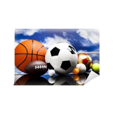 Sport a lot of balls and stuff wall mural pixers we for Pixers your walls and stuff