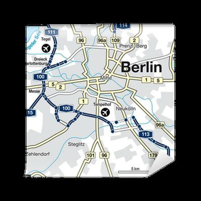 Stadtplan Berlin, Deutschland Wall Mural • Pixers® • We live to change