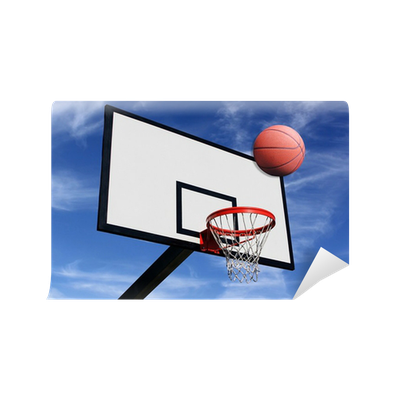 un panneau de basketball wall mural pixers we live to change. Black Bedroom Furniture Sets. Home Design Ideas