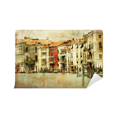 Venice, artwork in painting style Wall Mural • Pixers® • We live to ...