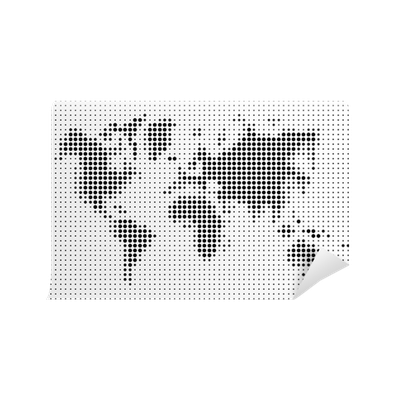 World map black dots atlas composition eps10 vector file wall world map black dots atlas composition eps10 vector file wall mural pixers we live to change gumiabroncs Gallery