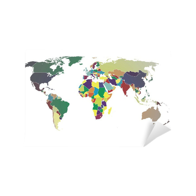 World map vector color gradient wall mural pixers we live to change gumiabroncs Images