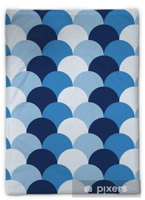 Couverture en molleton Abstract retro geometric pattern - Arrière plans