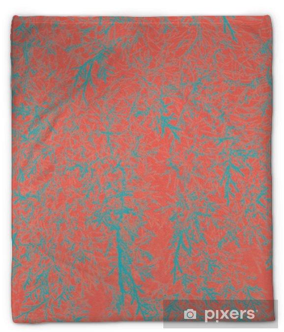 Couverture en molleton Fond abstrait de feuilles naturelles. corail vivant couleur créative et de mauvaise humeur de l'image. - Ressources graphiques
