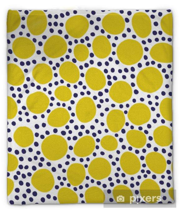 Couverture en molleton Modèle sans couture avec des éléments floraux et abstraits modernes dans des couleurs pastel fraîches. - Passe-temps et loisirs
