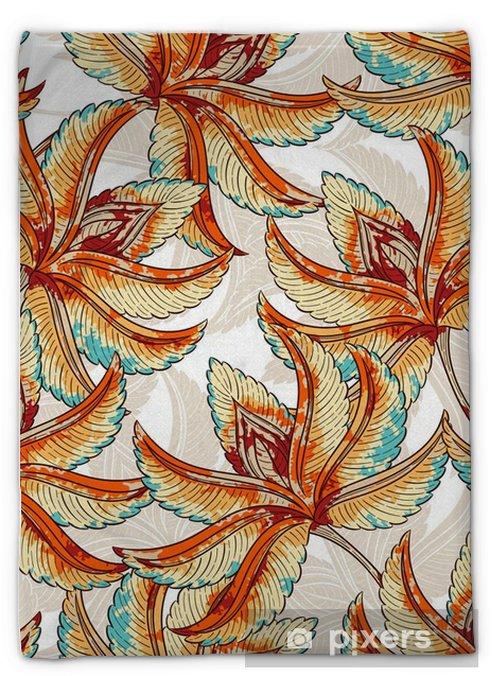 Couverture en molleton Motif d'automne Seamless - Plantes et fleurs