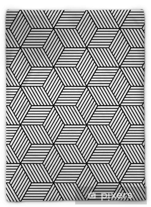 Couverture en molleton Seamless géométrique avec des cubes. - Ressources graphiques