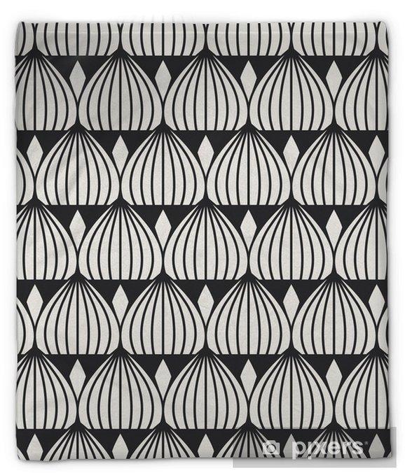 Couverture en molleton Seamless géométrique. -