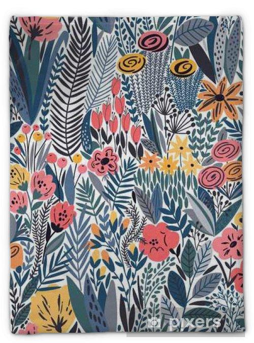Couverture en molleton Tropical seamless floral pattern - Plantes et fleurs