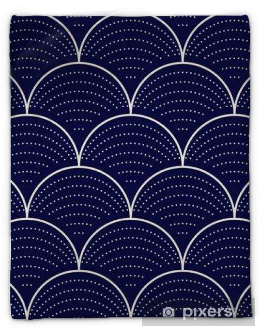 Couverture en molleton Vague japonaise seamless, illustration vectorielle - Ressources graphiques