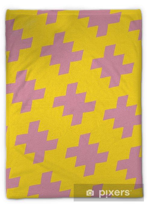 Couverture en molleton Vecteur transparente motif coloré lumineux géométrique dans un style traditionnel. couleur jaune et rose. texture ornement abstraite avec des formes dispersées diagonales. répéter l'arrière-plan dans le style de la mode des années 1980 et 1990 - Ressources graphiques
