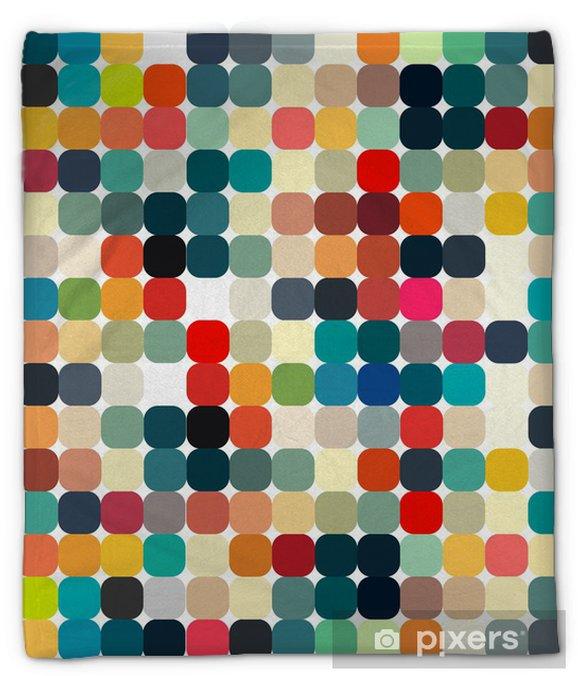 Koc pluszowy Abstrakcyjne geometryczne retro wzór dla projektu - Style