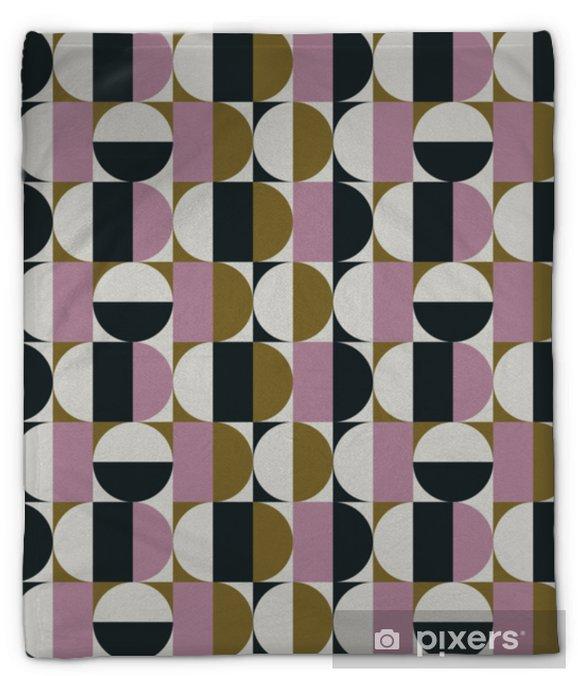 Koc pluszowy Abstrakcyjny wzór przestrzeni w połowie wieku - Zasoby graficzne