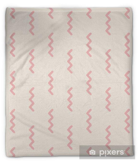 Koc pluszowy Bez szwu geometryczny wzór - Zasoby graficzne