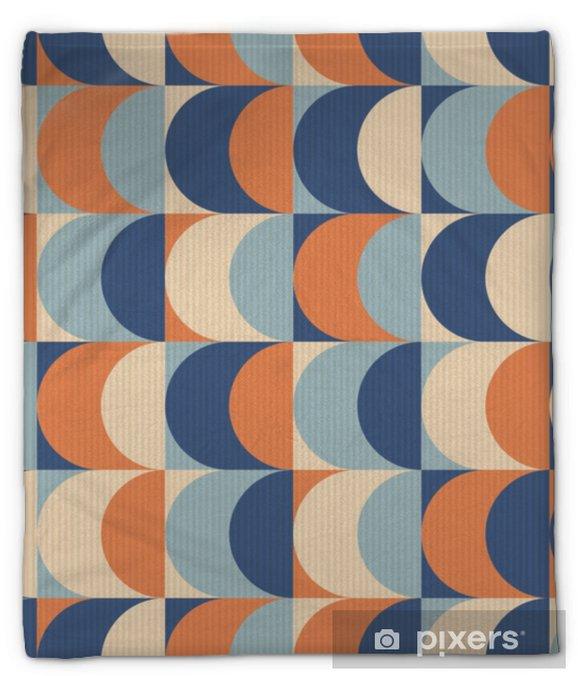 Koc pluszowy Bez szwu vintage wzór geometryczny - Zasoby graficzne