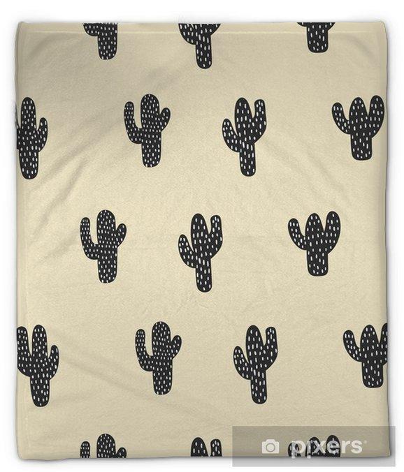 Koc pluszowy Bez szwu wzór kaktusa - Zasoby graficzne