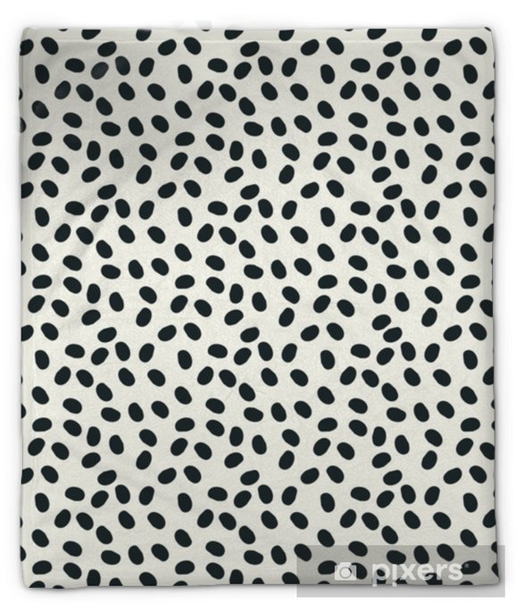 Koc pluszowy Czarno-białe kropki bezszwowe tło wektor powtórzyć - Zasoby graficzne