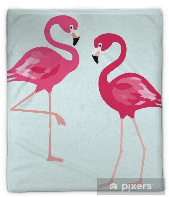 Koc pluszowy Flaming. egzotyczne ptaki na białym tle. wektorowa modna ilustracja. - Zwierzęta