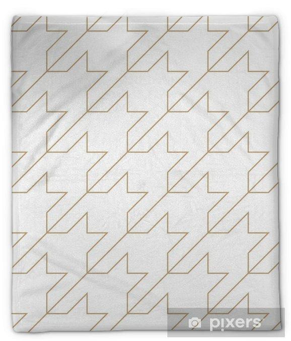 Koc pluszowy Houndstooth kratkę moda modny wzór geometryczny tkanina - Zasoby graficzne