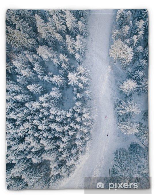 Koc pluszowy Jazda na nartach - Sport
