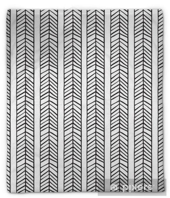 Koc pluszowy Liniowy skandynawski wzór do pakowania papieru z nadrukiem tkaniny. - Zasoby graficzne
