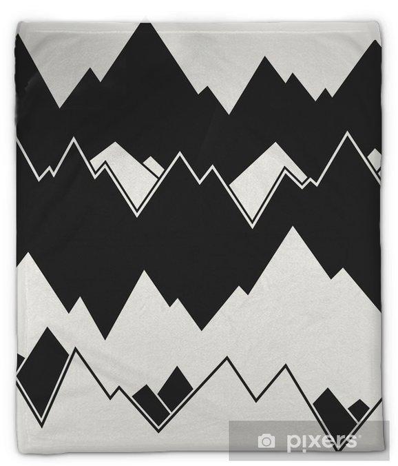 Koc pluszowy Nowoczesny stylowy monochromatyczny górski tło z nieregularną strukturę fal poziomych. powtarzająca się tekstura idealna do tapet, wydruków i dekoracji. wektor wzór. - Zasoby graficzne