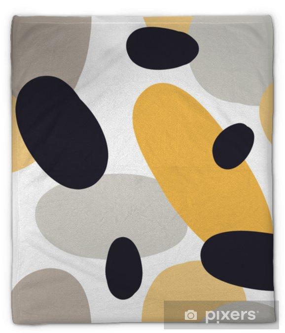 Koc pluszowy Nowoczesny wzór z abstrakcyjne kształty kolorowe: koła, owale. doodle ręcznie rysowane tekstury. modny kreatywny onfetti tło do druku na nowoczesne i oryginalne tkaniny, papier pakowy - Zasoby graficzne