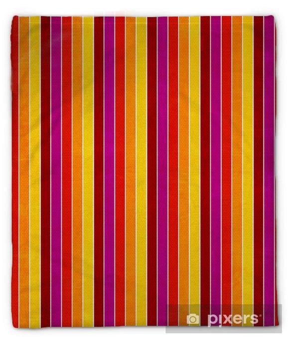 Koc pluszowy Paski kolorowe tło - Tła