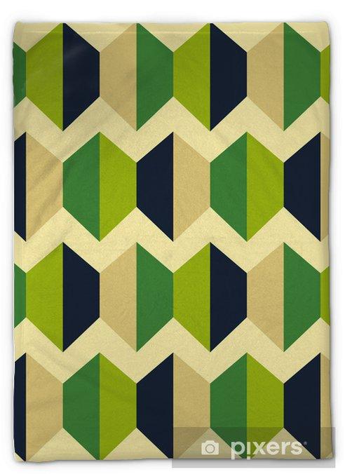 Koc pluszowy Retro abstrakcyjne powtarzalne - Abstrakcja