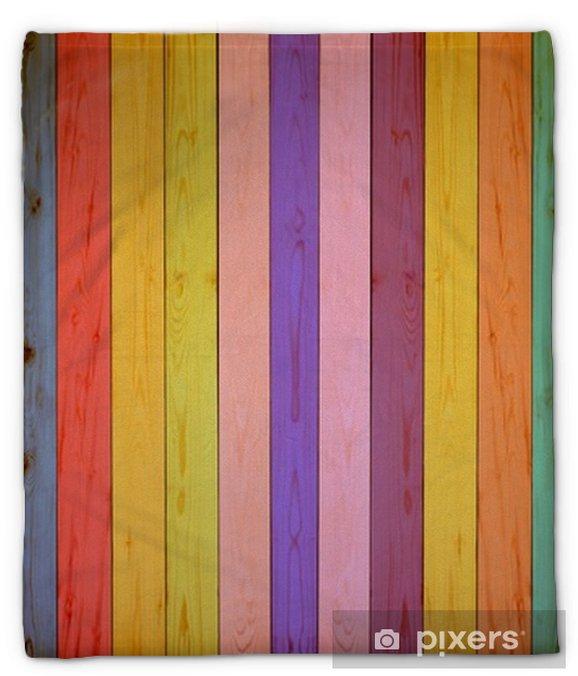 Koc pluszowy Rocznika kolorowe drewniane tła - Zasoby graficzne