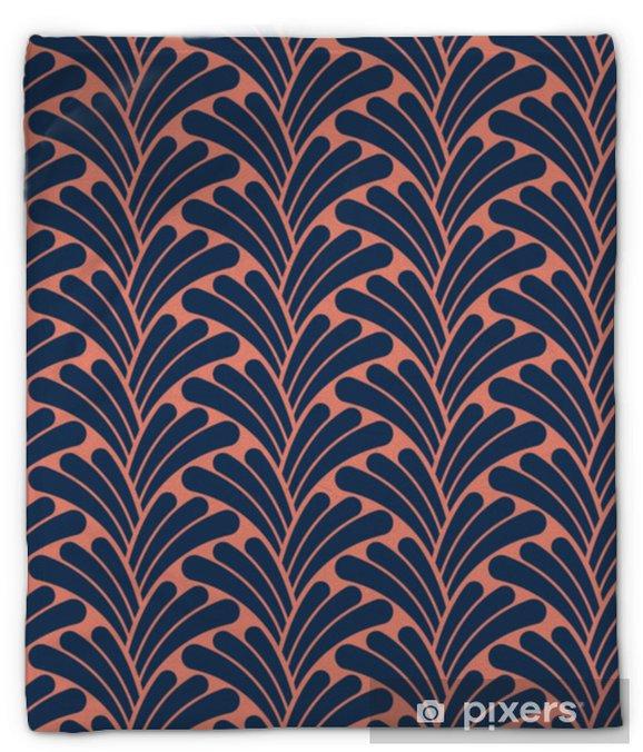 Koc pluszowy Streszczenie kwiatowy wzór bezszwowe art deco. stylowy antyczny tło. - Zasoby graficzne