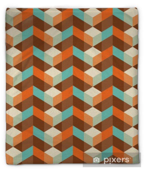 Koc pluszowy Streszczenie wzór geometryczny wzór tapety bezszwowe tło - Zasoby graficzne